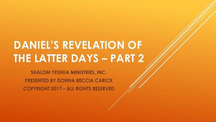 (PDF) Daniel's Revelation of The Latter Days Part 1